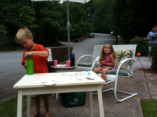 Thou shall not pass without buying some lemonade or iced tea
